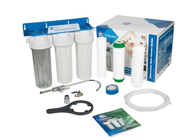 купить бу Трехступенчатая система очистки воды Aquafilter FP3-K1 (смягчение) в Ивано-Франковске