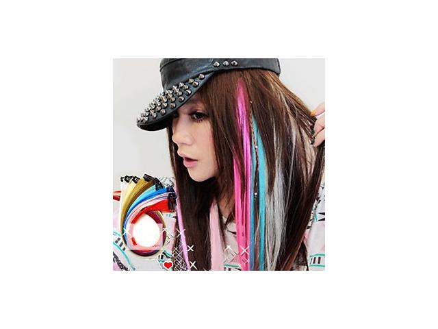 продам Цветные пряди на заколках, локоны для волос термо, яркие, трессы, клипсах, для наращивания, купить локон, наростить бу в Киеве