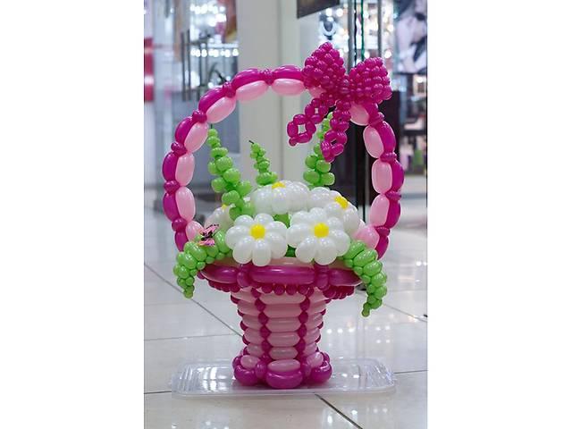 Цветы ,букеты цветов и корзины с цветами из воздушных шаров- объявление о продаже  в Киеве
