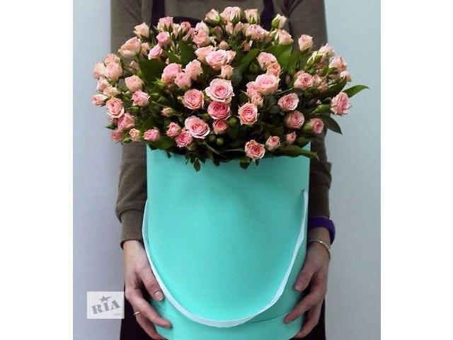 купить бу Цветы,букеты в шляпных коробках,доставка цветов.  в Украине