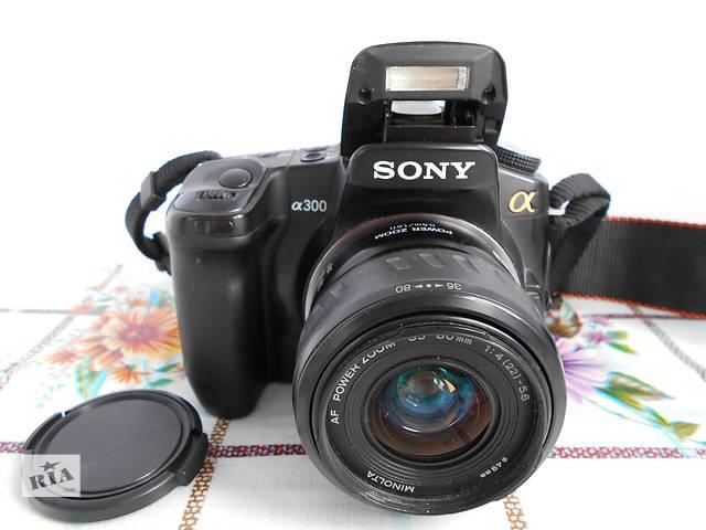 бу Зеркальный Фотоаппарат Sony Alpha DSLR-A300K Kit (35-80) - в Идеале ! в Херсоне