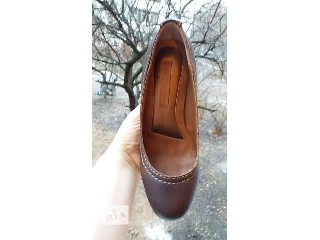Туфли Calvin Klein коричневые кожа- объявление о продаже  в Киеве
