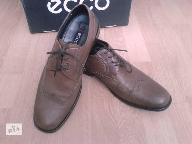 Туфли ECCO BOLOGNA, кожаные, оригинал, коричневые, 42р,- объявление о продаже  в Киеве