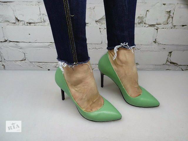 продам Туфли лодочки зелёные кожа новинка 2016 бу в Одессе