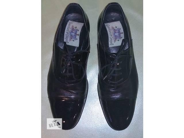 продам Туфли мужские лакированные, кожа бу в Киеве