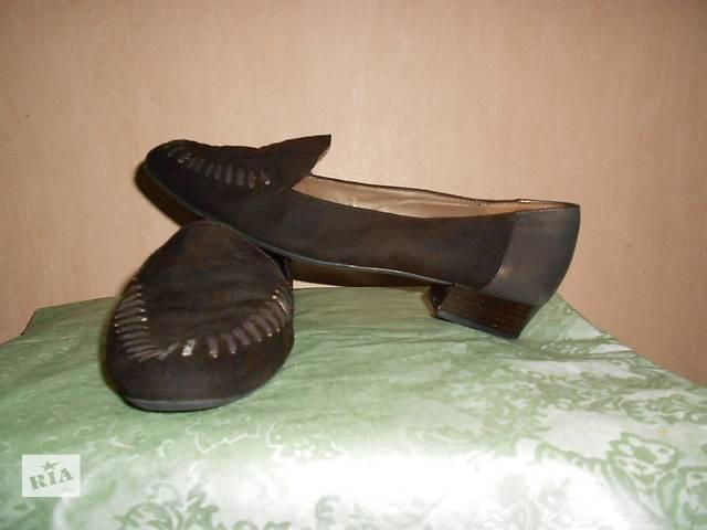продам Туфли натур. кожа+замша 39-40 размер, Австрия, очень удобные. Стелька 26 см бу в Николаеве