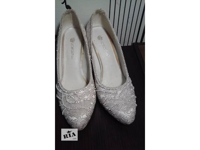 туфли свадебные, белые туфли,нарядные- объявление о продаже  в Запорожье