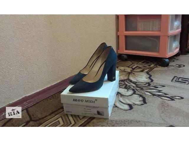 продам Туфли синие, кожаные BRAVO MODA бу в Донецке