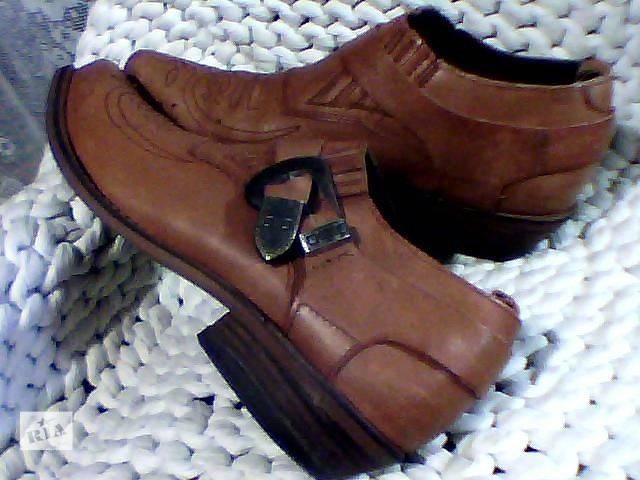 купить бу туфли женские кожаные р 39 стильные казаки в Запорожье