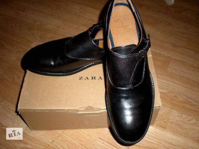 продам Туфли монки Zara, Португалия натуральная кожа бу в Гнивани