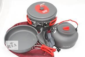 Кастрюля 2,2 л, сковорода, чайник 1,4 л для туризма Alocs