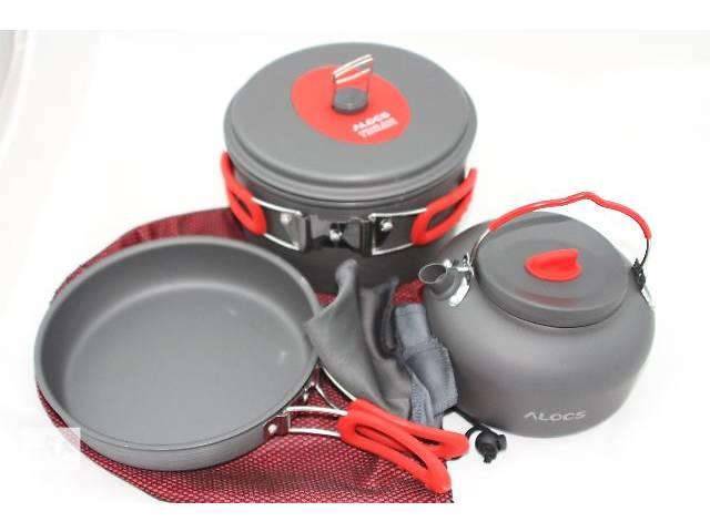 Кастрюля 2,2 л, сковорода, чайник 1,4 л для туризма Alocs- объявление о продаже  в Днепре (Днепропетровск)