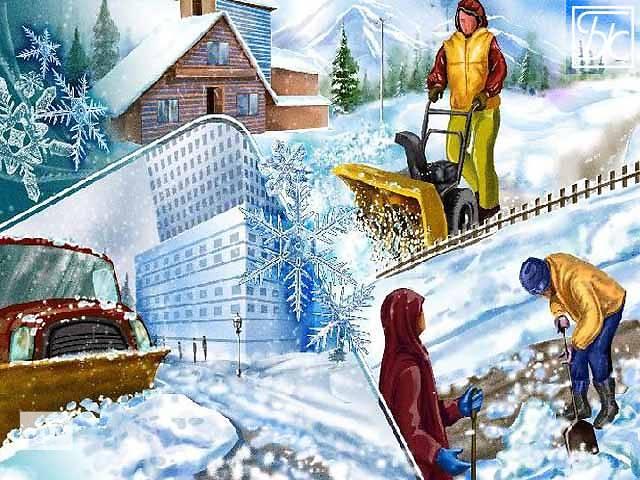 бу Уборка снега в Киеве