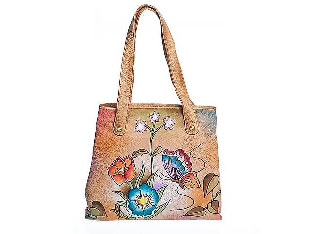 продам Удобная кожаная женская сумка с ручной росписью бу в Киеве