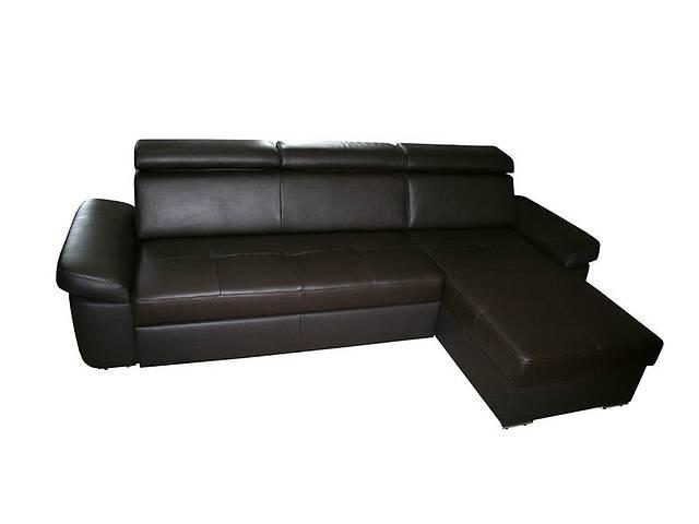купить бу Угловой кожаный диван FX15 B9. Цвет коричневый. В наличии в Киеве