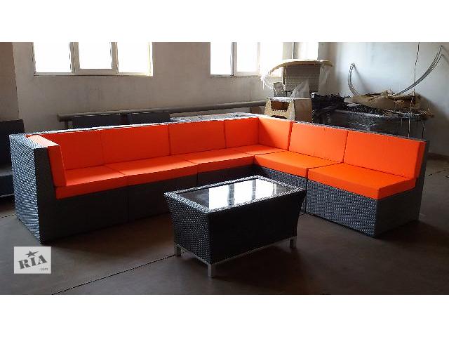 Угловой модульный диван из искусственного ротанга- объявление о продаже  в Одессе
