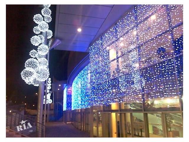 Украшение дома к Новому году,рождеству,праздничное новогоднее оформление,оформление зданий гирляндами- объявление о продаже   в Украине