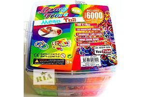 Ультра модный набор на 6000 резинок, для плетения браслетов, сувениров из разноцветных резиночек