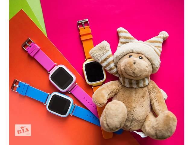 купить бу Умные детские часы с gps Q80.ЦВЕТНОЙ ЭКРАН. Оригинал. Гарантия. в Одессе