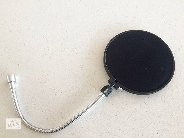 купить бу Универсальный поп-фильтр K&M для студийных вокальных микрофонов в Киеве