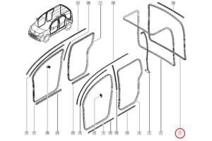 б/у Уплотнители крышки багажника Renault Kangoo
