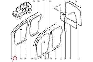 б/у Уплотнители двери Renault Kangoo