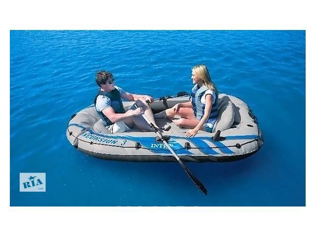 Надувная лодка понтон 3-х местная Intex 68319 Excursion-3 Set + алюминиевые вёсла и насос- объявление о продаже  в Тернополе