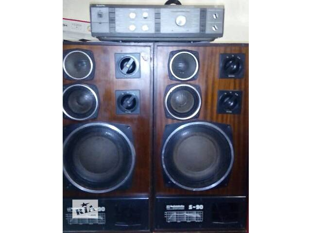 усилитель Барк 068 + акустика Radiotehnika S-90 а отличном состоянии- объявление о продаже  в Херсоне