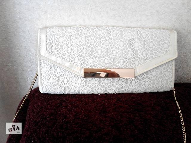Утонченная белая сумка - клатч- объявление о продаже  в Полтаве
