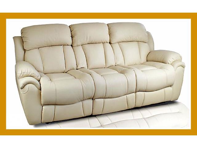 купить бу Уютный кожаный диванчик (3р) Бостон, в наличии в Киеве