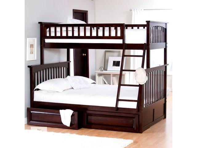купить бу В Наличии! Двухъярусная трехместная кровать Жасмин в двух размерах 90(140)*190 и 90(120)*190 цвет ольха, орех, венге в Василькове