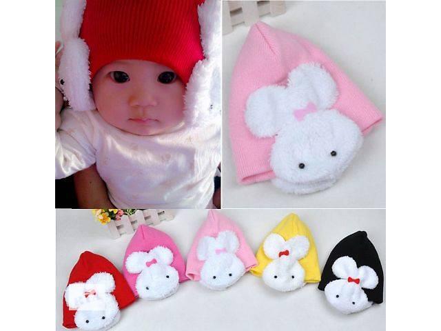 бу в наличии! двойная детская шапка веселый зайчик для принцесс в Николаеве