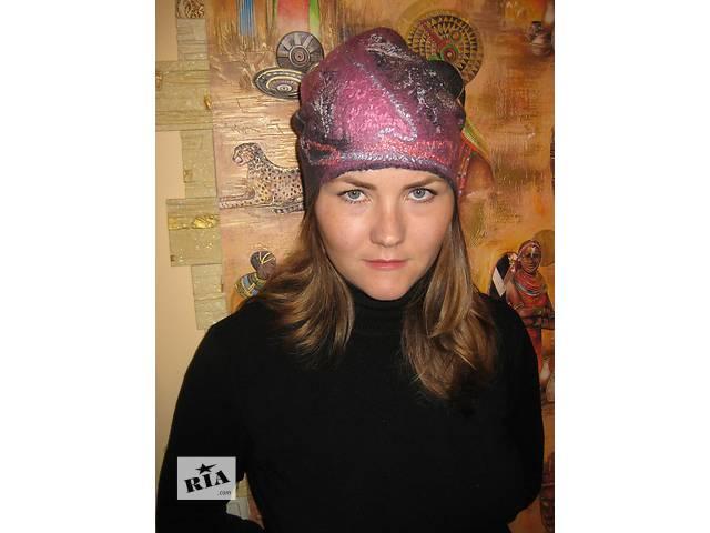 """Валяная шапка """"Розовый туман""""- объявление о продаже  в Переяславе-Хмельницком"""