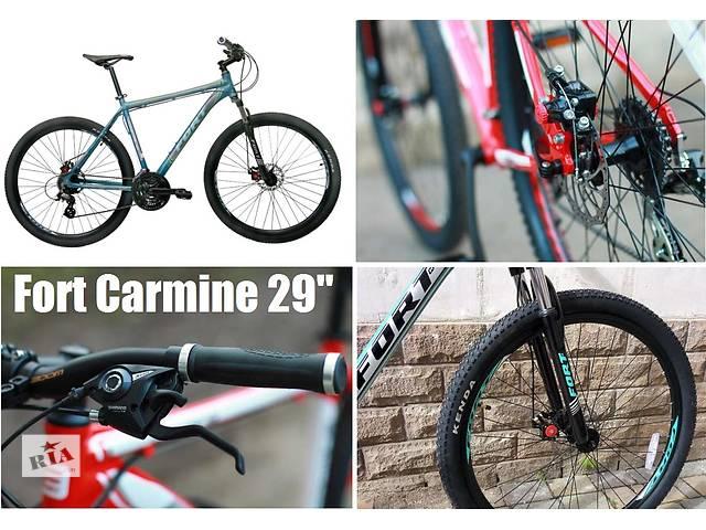 продам Велосипед найнер Fort Carmine DD 29 2016 алюминий, дисковые тормоза бу в Северодонецке