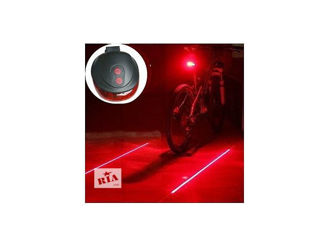 купить бу Велосипедный светодиодный задний фонарь с лазером в Тернополе