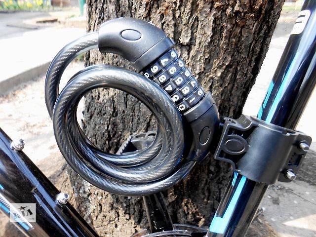 купить бу Велосипедный замковый трос 12х1200 с креплением на подседельный штырь TY566 (5-ти кодовый) в Славянске