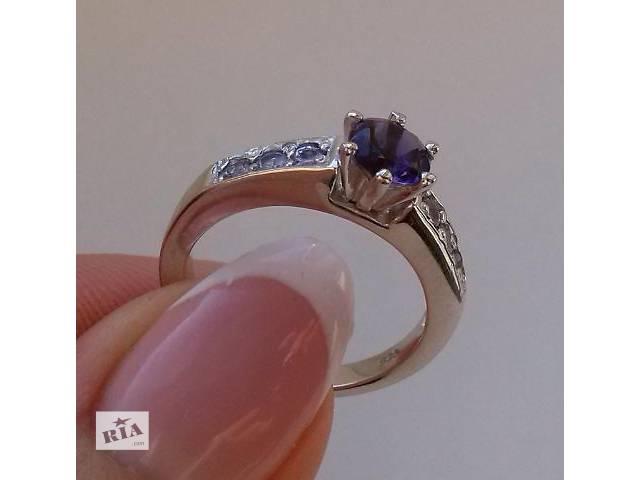 продам Великолепное кольцо с Иолитом и Танзанитами!! Видео бу в Сумах