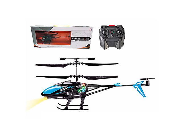 купить бу Вертолет WF-1303 на радиоуправление, аккумуляторы, 28 см , гироскоп, свет, 3,5канала, в кор-ке, 44,5-18-7см в Ровно