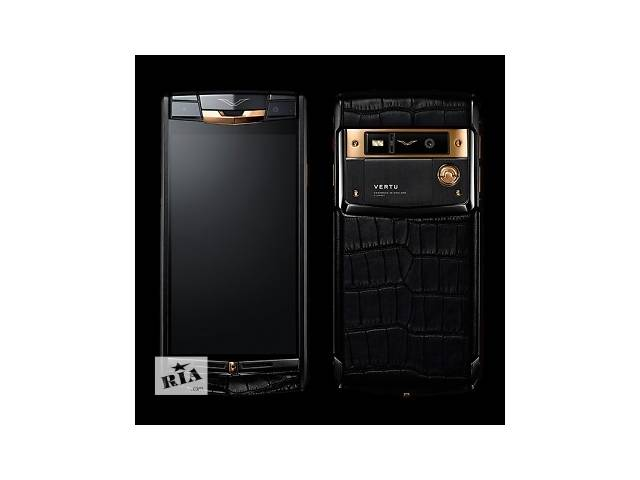 купить бу Vertu Signature Touch Pure Black Gold Alligator, Verty, верту, копии vertu, копии телефонов vertu, точные копии vertu в Киеве