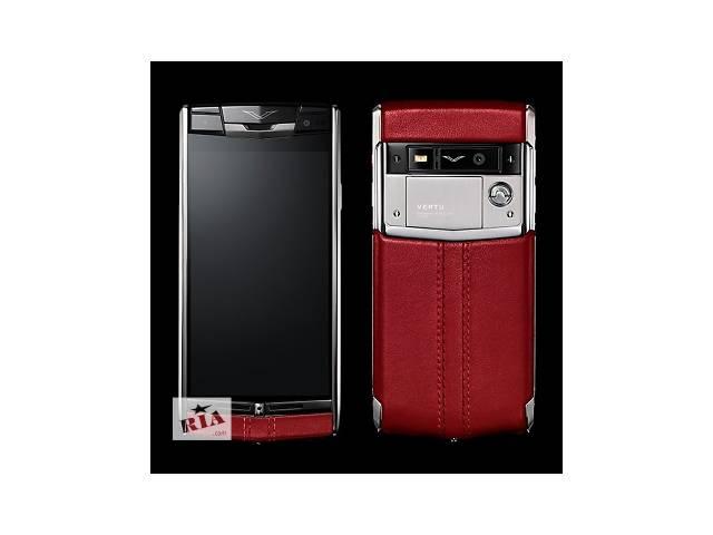 бу Vertu Signature Touch Red Leather, Verty, верту, копии vertu, копии телефонов vertu, точные копии vertu в Киеве