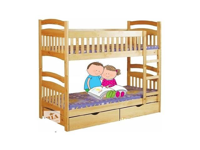 весь комплект: двухъярусная кровать Karina+матрасы ЕММ-от фабрики мебели из натурального дерева!- объявление о продаже  в Василькове