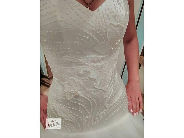 купить бу Свадебное платье от дизайнера,вышивка ручной работы в Барышевке