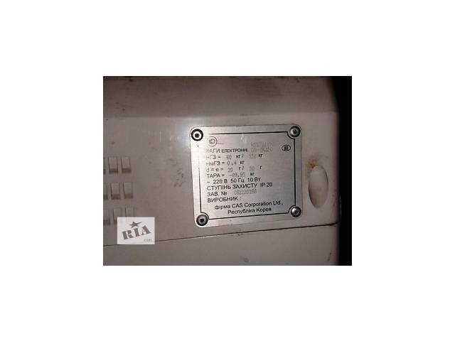 купить бу Весы напольные электронные CAS DB-1H бу в Киеве