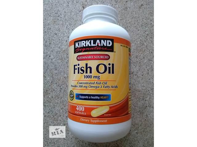 продам вітаміни рибий жир 1000 мг.+Omega-3 (300 мг.) фірми Kirkland (США) 400 штук. бу  в Украине