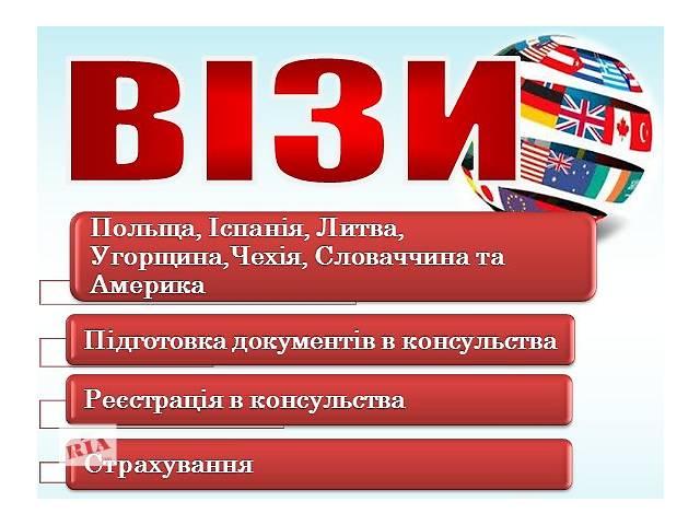 продам Визы в страны Европы бу  в Украине