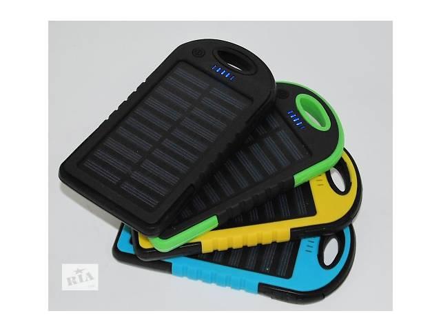 продам Внешний аккумулятор Solar Power Bank 12000 mAh с солнечной батареей 2 USB бу в Одессе