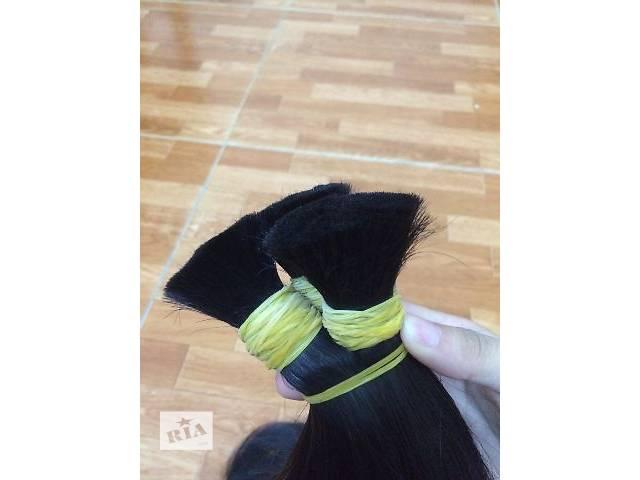 купить бу Волос черный 55 см 100 грамм славянский тип в Николаеве
