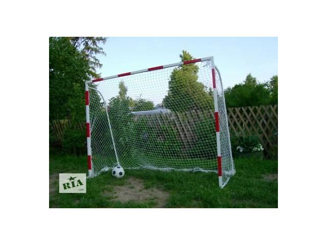 купить бу Ворота футбольные дачные детские 2000х1500 с полосами в Киеве
