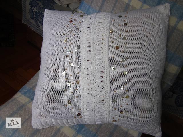 продам Вязанная декоративная подушка бу в Запорожье