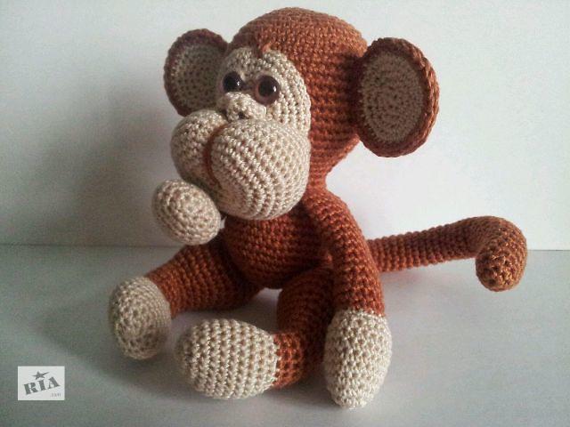 продам Вязанная игрушка - обезьянка бу в Харькове